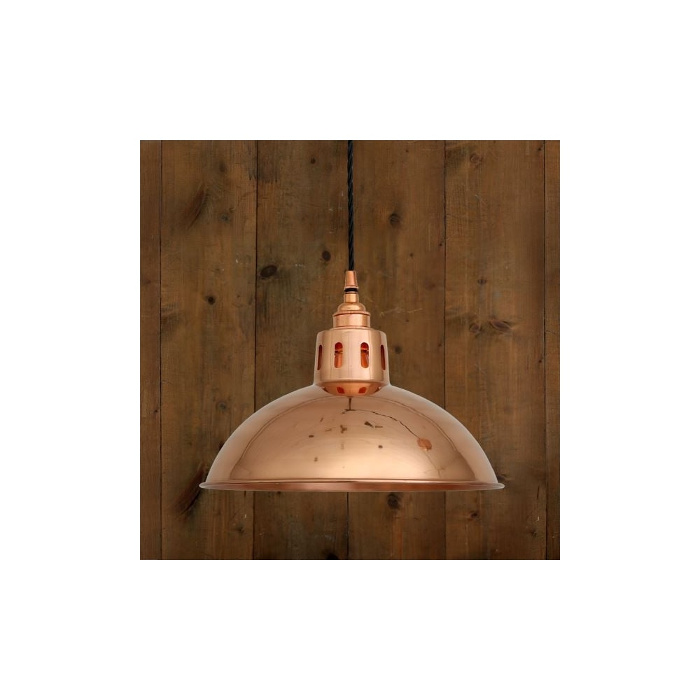 Polished Copper Industrial Ceiling Pendant