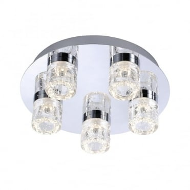 BILAN - BathroomLED Ceiling Light Chrome in Chrome, Clear