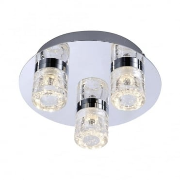 BILAN - BathroomLED Ceiling Light Chrome in Chrome IP44
