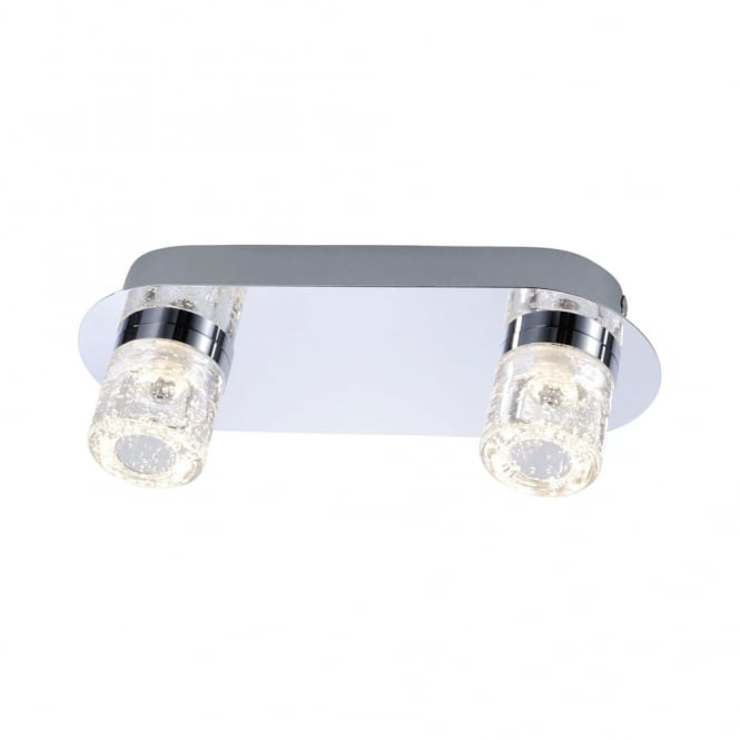 BILAN - BathroomLED Ceiling Light Chrome in Chrome IP44 Rated