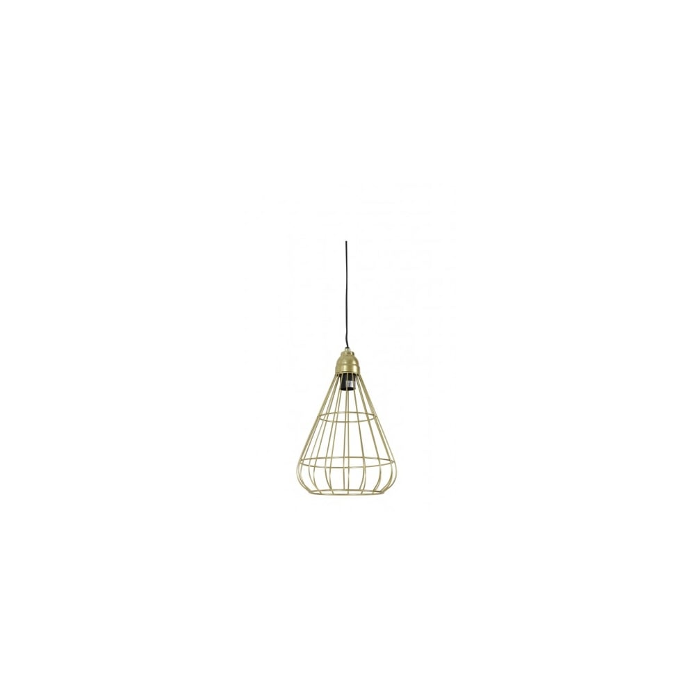 Modern Open Wire Shade Ceiling Pendant Gold Lighting And Lights Uk Wiring A Lamp Bindi Hanging 23x35cm