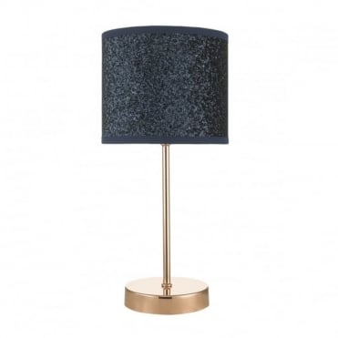 BISTRO - Touch Table Lamp Copper Navy Glitter Shade