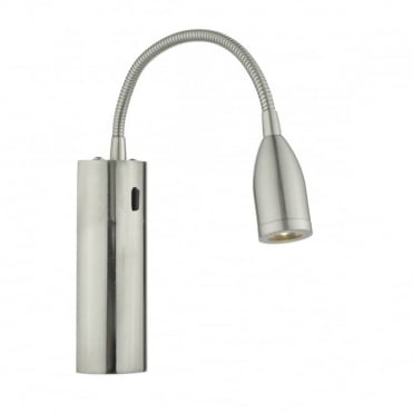 BJORN - Wall Light LED Satin Chrome , Switched