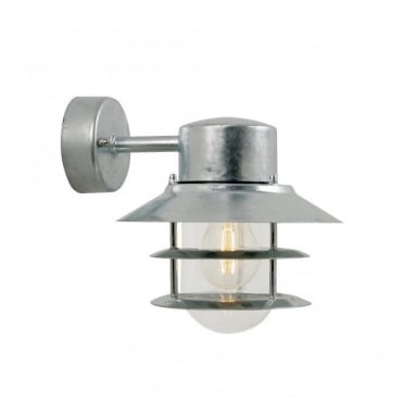 BLOKHUS - Downward Exterior Wall Light Galvanised Steel
