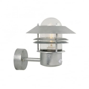 BLOKHUS - Modern Exterior Wall Light Galvanised Steel Motion Sensor