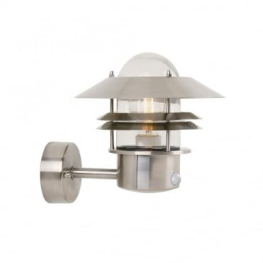 BLOKHUS - Modern Exterior Wall Light Stainless Steel Motion Sensor