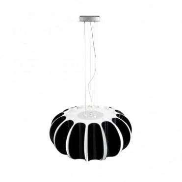 BLOMMA - Modern 3 Light Black and Matte White Ceiling Pendant