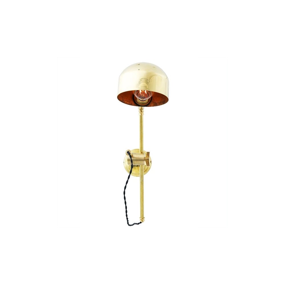 quirky lighting. BOGOTA - Quirky Wall Light In Satin Brass Lighting T