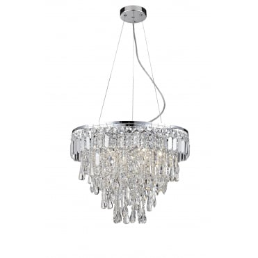 BRESNA - 50cm Luxury Crystal Bathroom Chandelier with LED Bulbs Included