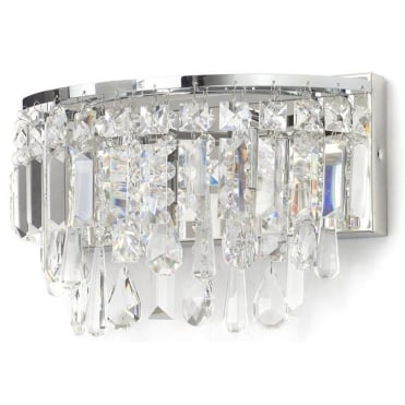 BRESNA - Luxury Crystal Bathroom Wall Chandelier with LED Bulbs Included
