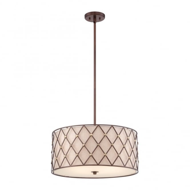 Broadway American Collection BROWN - Lattice Large Ceiling Pendant