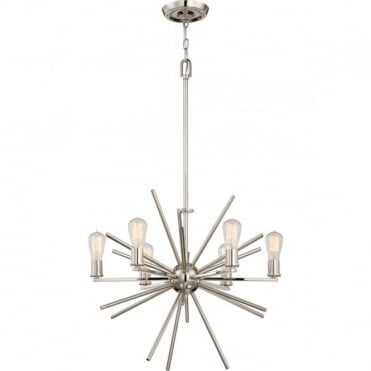 CARNEGIE 6 light pendant in imperial silver finish