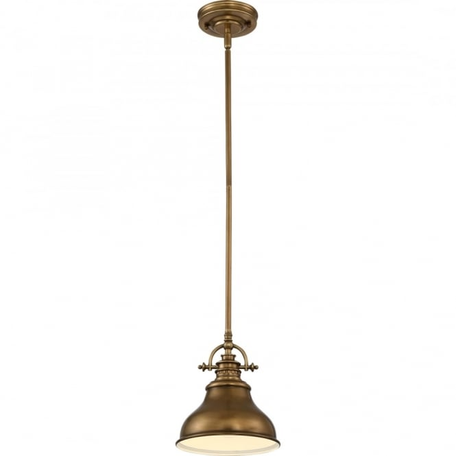 Broadway American Collection EMERY - Weathered Brass Small Ceiling Pendant