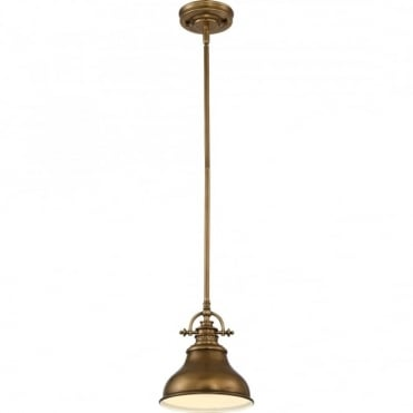 EMERY - Weathered Brass Small Ceiling Pendant
