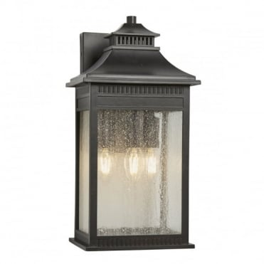 LIVINGSTON 3 Light Large Exterior Wall Lantern Imperial Bronze