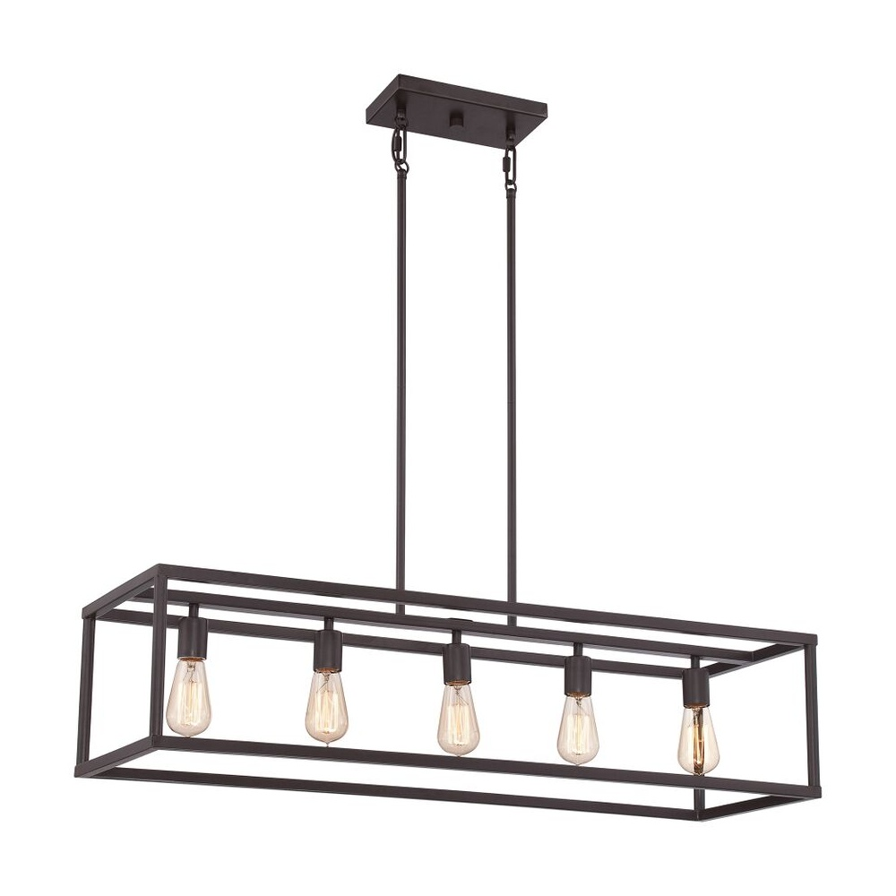 Glass Box Pendant Light Fitting For Above A Bar Kitchen