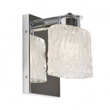 SEAVIEW Modern Bathroom Wall Light Chrome Frosted Glass Shade