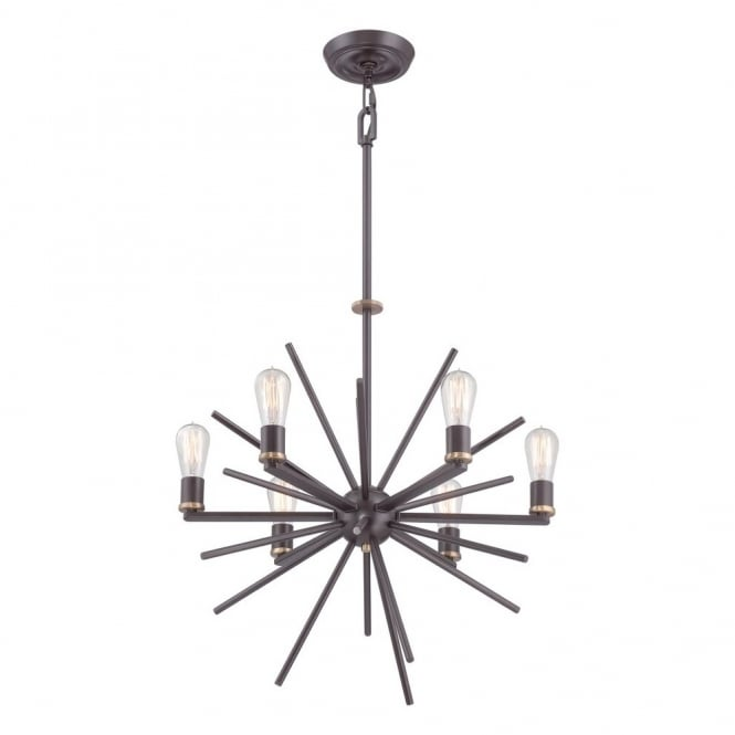 Broadway American Collection UPTOWN - Carnegie 6 Light Chandelier