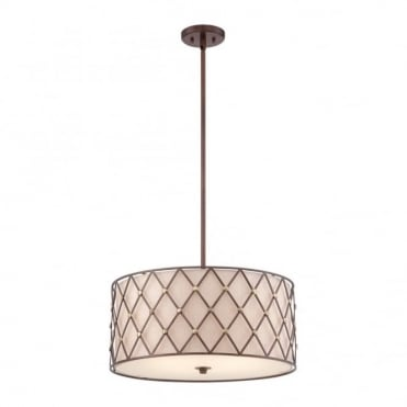 BROWN - Lattice Large Ceiling Pendant