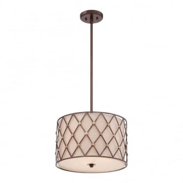 BROWN - Lattice Medium Ceiling Pendant