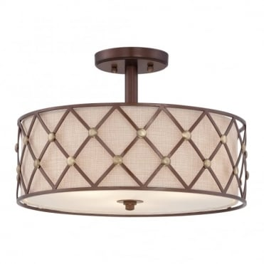 BROWN - Lattice Semi-Flush