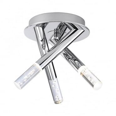 BUBBLES - BathroomLED Ceiling Light Chrome in Chrome