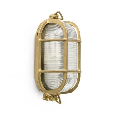 CABO Brass Exterior Bulkead Wall Light