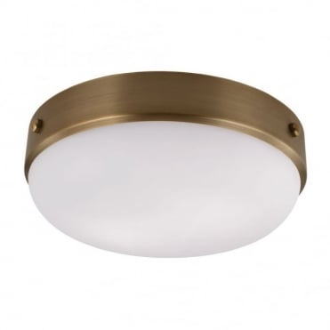 CADENCE - Flush Mount in White, Antique Brass, Bronze