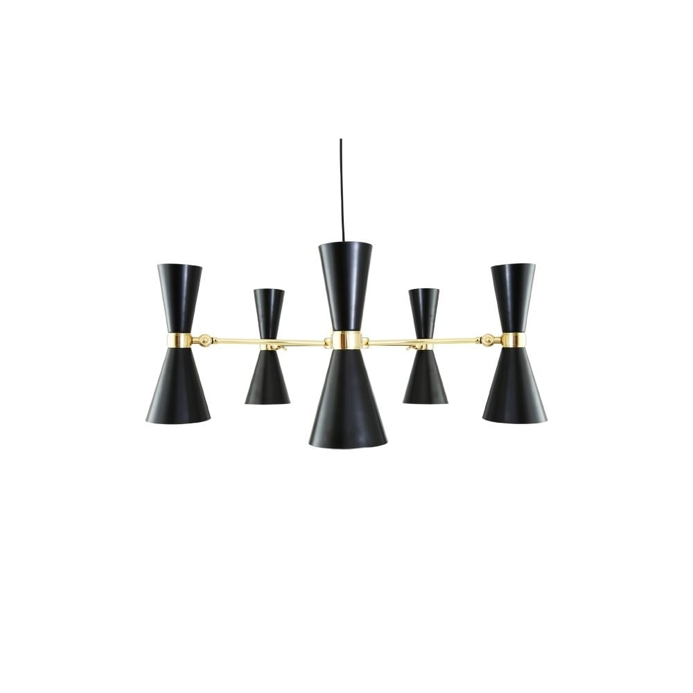 Contemporary polished brass black chandelier lighting and lights uk cairo 5 arm contemporary chandelier in powder coated matte black aloadofball Image collections