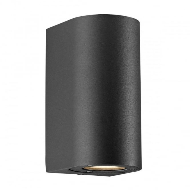CANTO - Modern Maxi Exterior Wall Light in Black , Switched