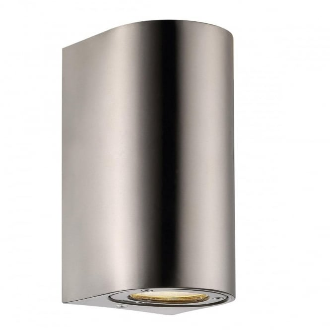CANTO - Modern Maxi Exterior Wall Light in Stainless Steel in Stainless Steel IP44 Rated