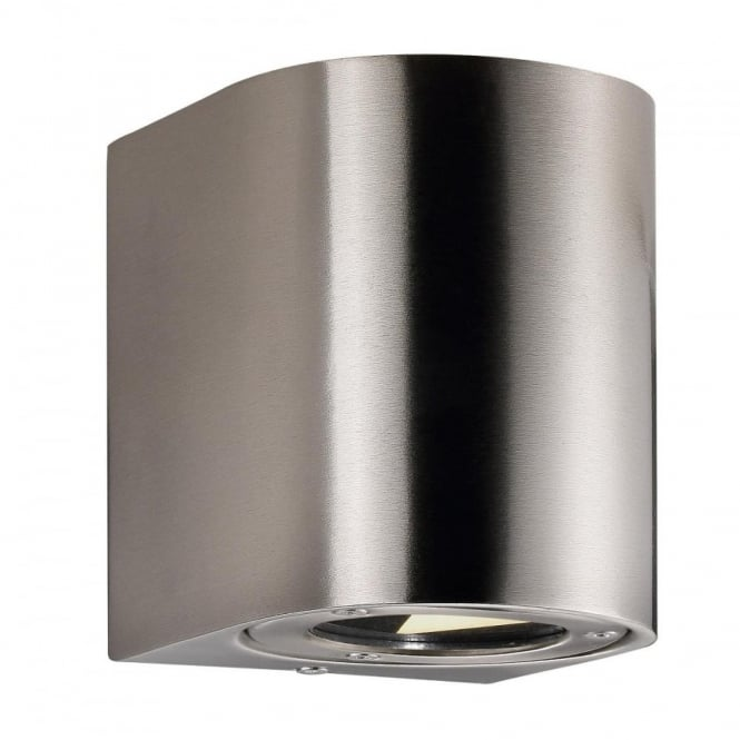 CANTO - Modern Maxi Exterior Wall Light in Stainless Steel in Stainless Steel
