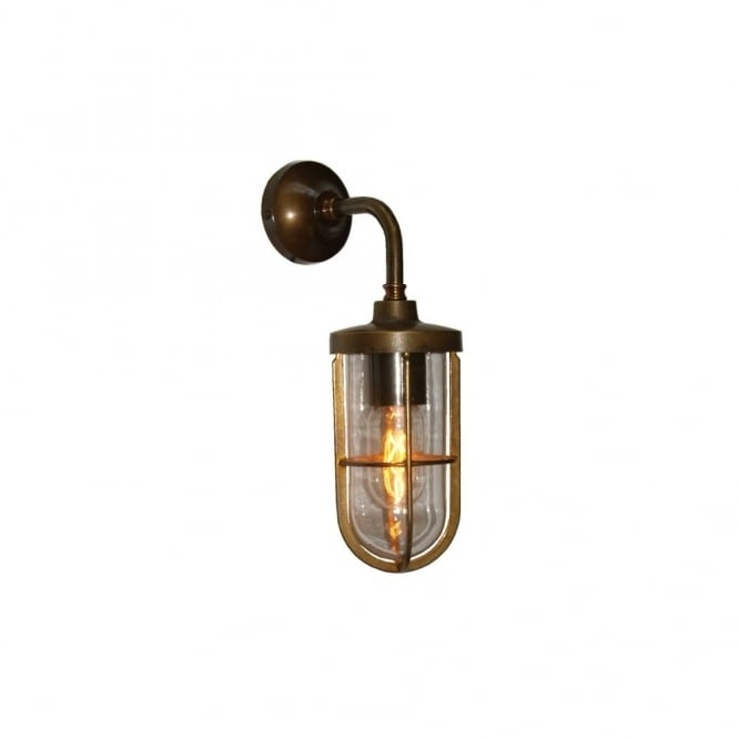 CARAC - Well Glass Wall Light In Antique Brass