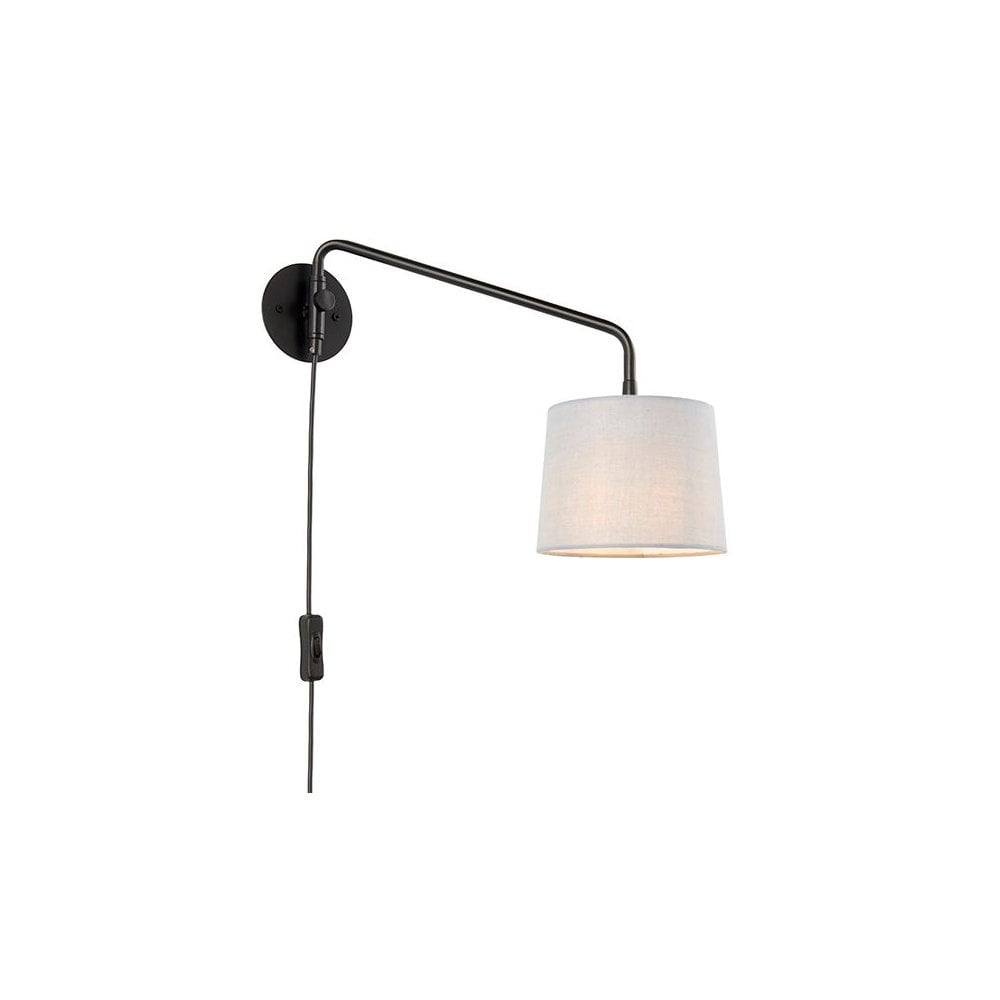 Small Plug In Wall Light Modern Swing Arm Grey Lighting And Lights