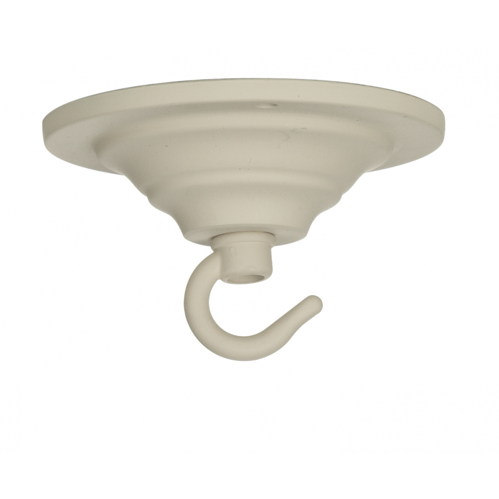 Cream Ceiling Hook Plate A Lighting Component Used In Light Manufacture