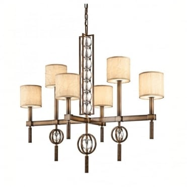 CELESTIAL - 6 Light Rectangular Chandelier