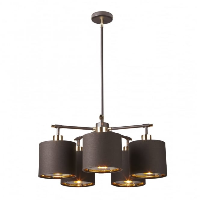 Chester Collection BALANCE - Brown/Polished Brass Chandelier