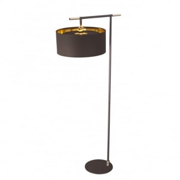 BALANCE - Brown/Polished Brass Floor Lamp