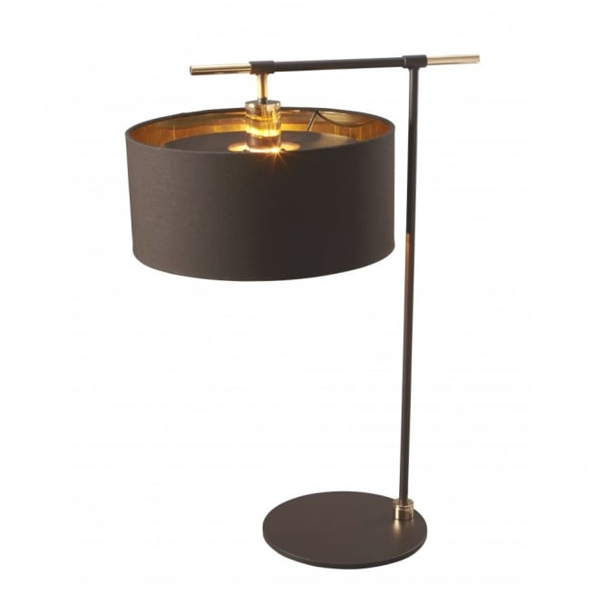 Chester Collection BALANCE - Brown/Polished Brass Table Lamp