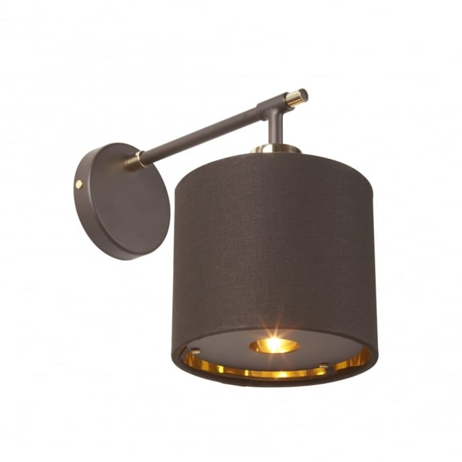 Chester Collection BALANCE - Brown/Polished Brass Wall Light