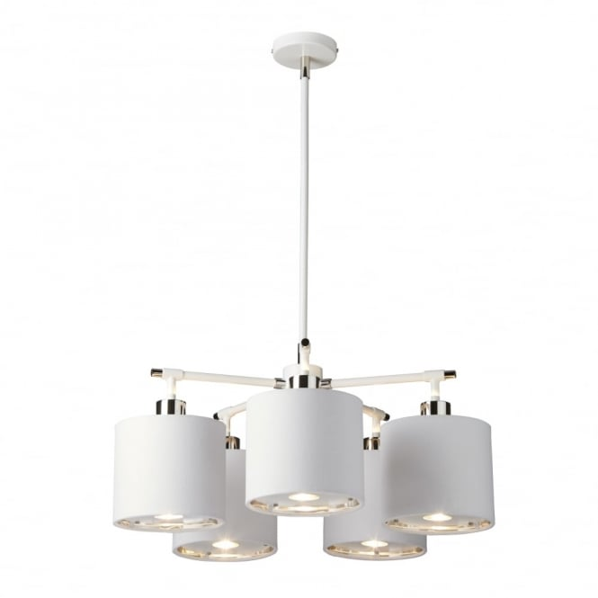 Chester Collection BALANCE - White/Polished Nickel Chandelier
