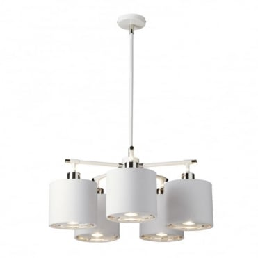 BALANCE - White/Polished Nickel Chandelier