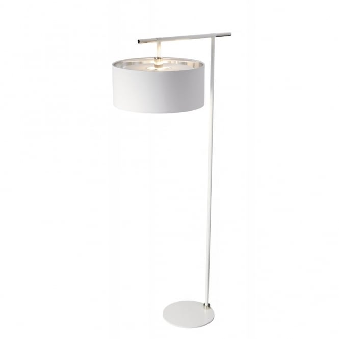Chester Collection BALANCE - White/Polished Nickel Floor Lamp