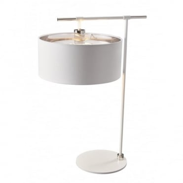 BALANCE - White/Polished Nickel Table Lamp