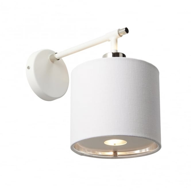 Chester Collection BALANCE - White/Polished Nickel Wall Light