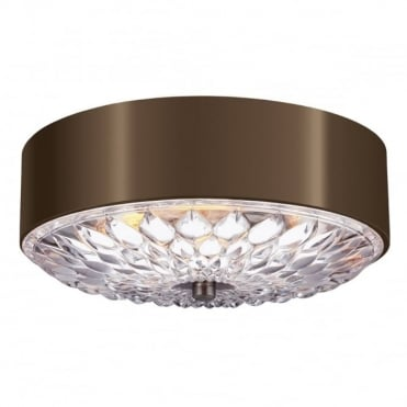 BOTANIC 3 Light Flush Mount Dark Brass