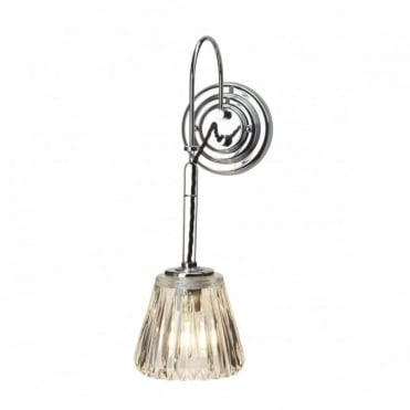 DEMELZA 1 Light Bath Wall Light Chrome
