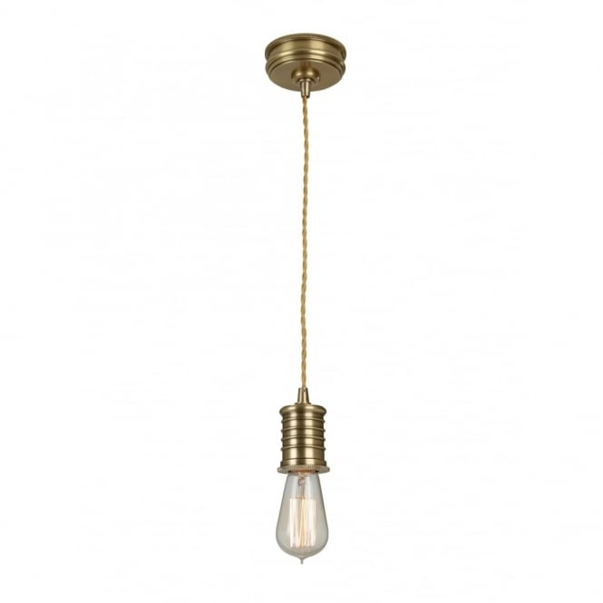 Chester Collection DOUILLE - Aged Brass Ceiling Pendant