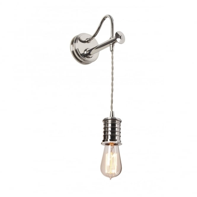 Chester Collection DOUILLE - Polished Nickel Wall Light