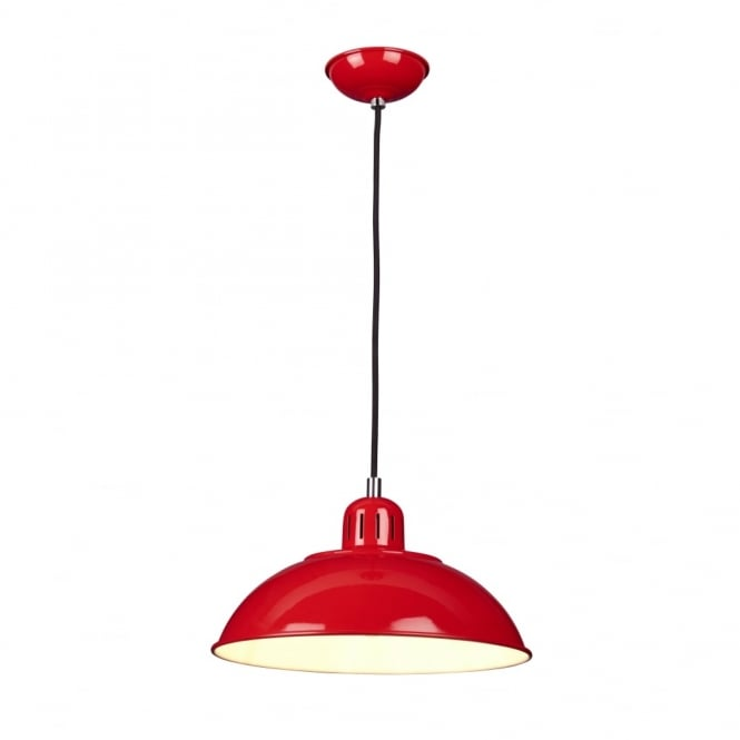 Chester Collection FRANKLIN - Red Ceiling Pendant